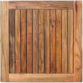 Stern Gartentisch, Tischplatte Old Teak, 90x90 cm