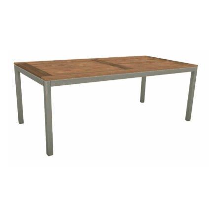 Stern Tischsystem, Gestell Aluminium graphit, Tischplatte Old Teak, Größe: 200x100 cm