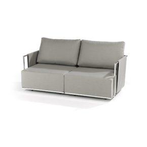 """Fischer Möbel """"Suite"""" Lounge 2-Sitzer bestehend aus einem Seitenteil mit Armlehne rechts und einem Seitenteil mit Armlehne links, Ausführung Edelstahl elektropoliert"""