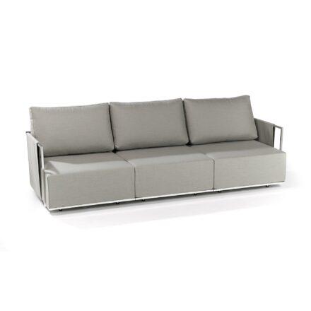"""Fischer Möbel """"Suite"""" Lounge 3-Sitzer bestehend aus einem Seitenteil mit Armlehne rechts und einem Seitenteil mit Armlehne links sowie einem Mittelmodul, Ausführung Edelstahl elektropoliert"""