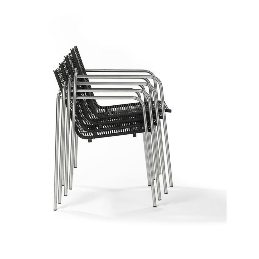 fischer m bel taku gartenstuhl mit armlehnen. Black Bedroom Furniture Sets. Home Design Ideas