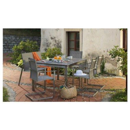 """Diamond Garden Gartenstuhl """"Monaco"""" und Gartentisch """"San Marino"""""""
