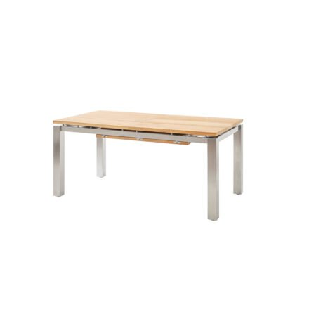 "Diamond Garden Gartentisch ""Levanto"", Gestell Edelstahl, Tischplatte Teakholz recycelt, 170/270x90 cm"