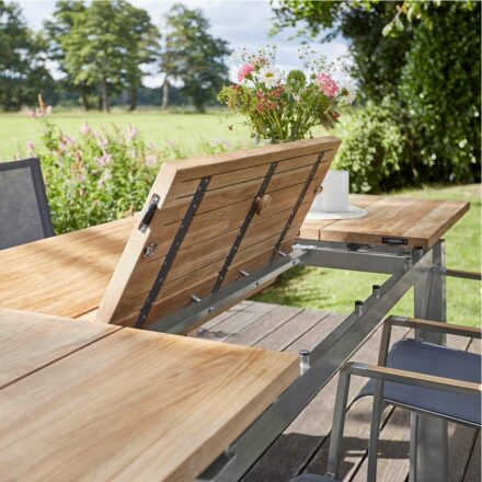 "Diamond Garden Gartentisch ""Levanto"", Gestell Edelstahl, Tischplatte Teakholz recycelt"