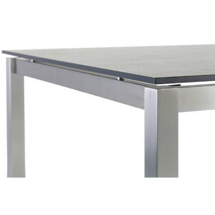 """Diamond Garden Gartentisch """"San Marino"""", Gestell Edelstahl, Tischplatte DiGa Compact HPL"""