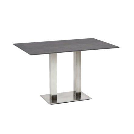"""Niehoff Tisch """"Bistro"""", Tischplatte HPL Beton-Design, eckig, 120 cm"""