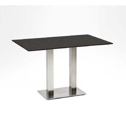 """Niehoff Tisch """"Bistro"""", Tischplatte HPL granit-Design, eckig, 120 cm"""