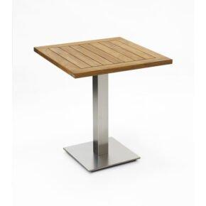 """Niehoff Tisch """"Bistro"""", Tischplatte Teak geölt, eckig, 68 cm"""