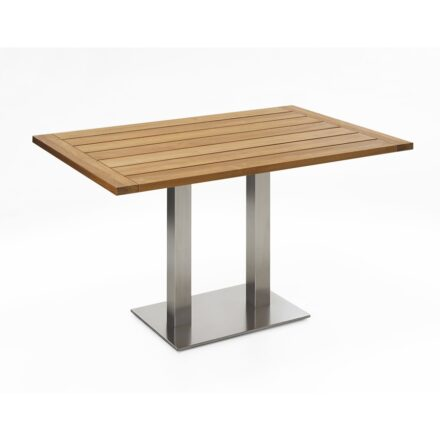 """Niehoff Tisch """"Bistro"""", Tischplatte Teak geölt, eckig, 120 cm"""