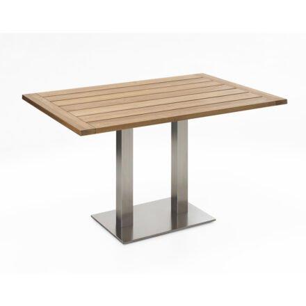 """Niehoff Tisch """"Bistro"""", Tischplatte Teak recycelt, eckig, 120 cm"""