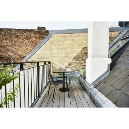 """Cane-line """"Copenhagen"""" Gartenstuhl (City Chair), Aluminium olive green und lavagrau"""