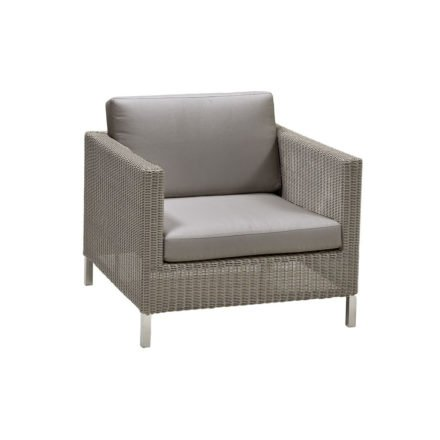 "Cane-line ""Connect"" Loungesessel, Geflecht taupe mit Kissen taupe"