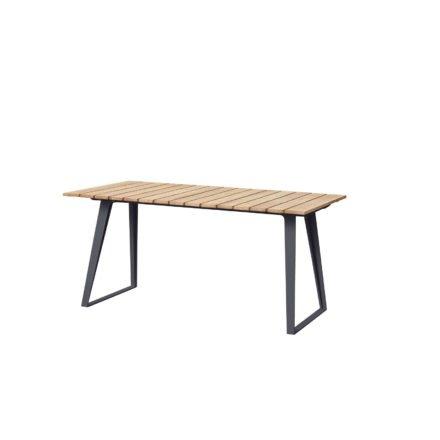 "Cane-line Gartentisch ""Copenhagen"", Gestell Aluminium lavagrau, Tischplatte Teakholz"
