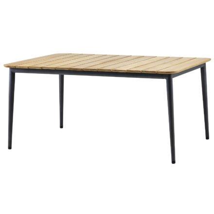 """Gartentisch """"Core"""" von Cane-line, Aluminium lavagrau, Größe: 160x100 cm"""