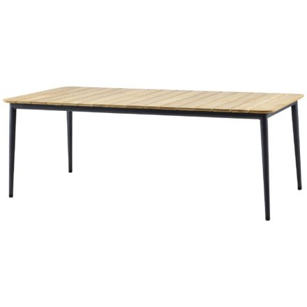 """Gartentisch """"Core"""" von Cane-line, Aluminium lavagrau, Größe: 210x100 cm"""