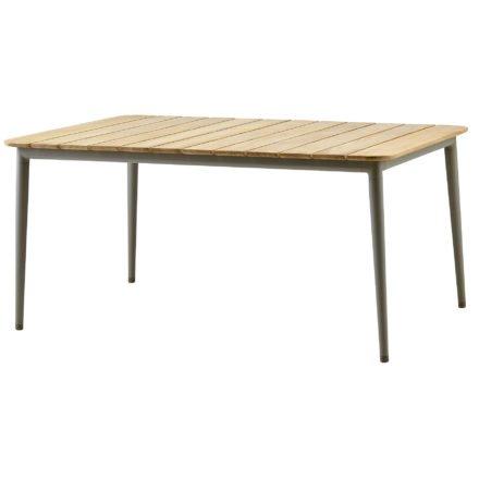 """Gartentisch """"Core"""" von Cane-line, Aluminium taupe, Größe: 160x100 cm"""