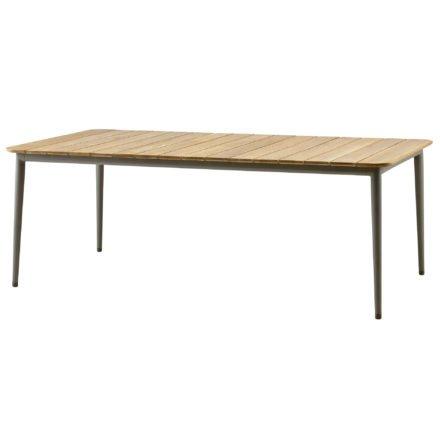 """Gartentisch """"Core"""" von Cane-line, Aluminium taupe, Größe: 210x100 cm"""