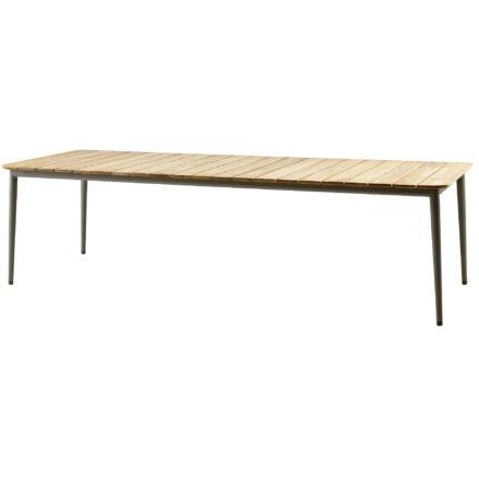 """Gartentisch """"Core"""" von Cane-line, Aluminium taupe, Größe: 274x100 cm"""