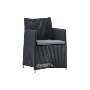 "Cane-line Dining-Sessel ""Diamond"", Geflecht graphite"