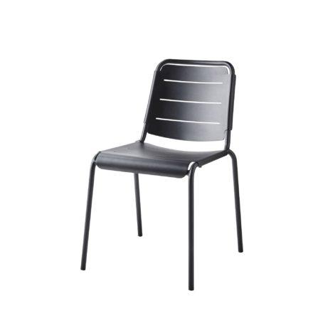 "Cane-line ""Copenhagen"" Gartenstuhl (City Chair), Aluminium lavagrau"