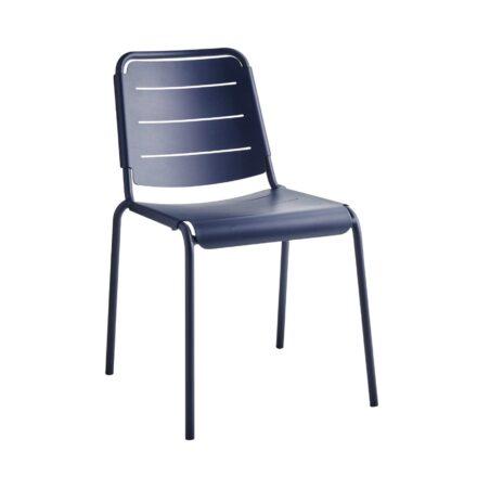 """Cane-line """"Copenhagen"""" Gartenstuhl (City Chair), Aluminium midnight blue"""