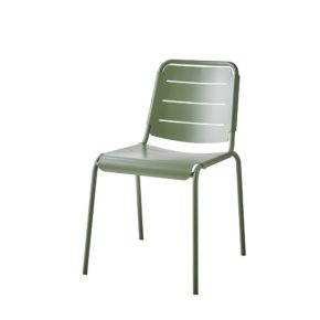 "Cane-line ""Copenhagen"" Gartenstuhl (City Chair), Aluminium olive green"