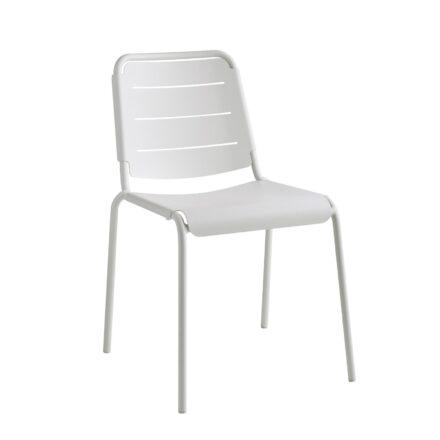 """Cane-line """"Copenhagen"""" Gartenstuhl (City Chair), Aluminium weiß"""