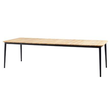 """Gartentisch """"Core"""" von Cane-line, Aluminium lavagrau, Größe: 274x100 cm"""