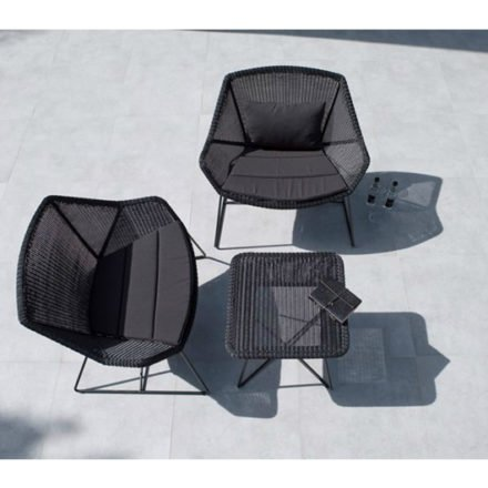 """Loungesessel """"Breeze"""" von Cane-line, Gestell Stahl schwarz, Sitzfläche Polyrattan schwarz"""