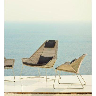 """Loungesessel """"Breeze"""" von Cane-line, Gestell weiß, Sitzfläche Polyrattan weiß"""