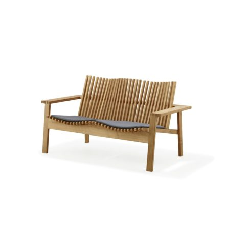 Loungesofa Amaze von Cane-Line, Teakholz, mit Sitzkissen grau