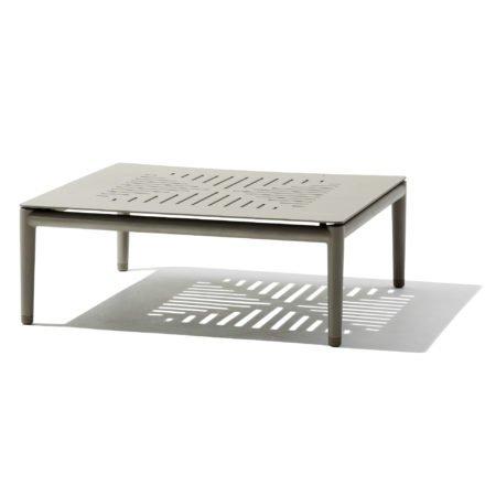 """Cane-line """"Conic"""" Loungetisch, Aluminium taupe"""