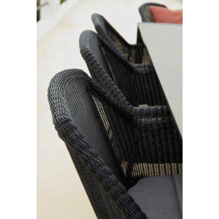 """Gartenstuhl """"Breeze"""" von Cane-line, Gestellt Stahl schwarz, Sitzfläche Polyrattan schwarz"""