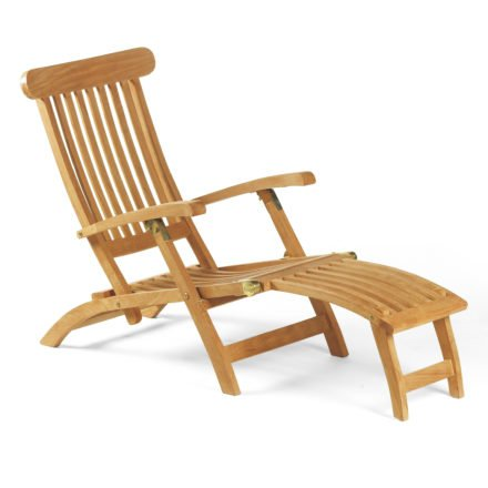 "SonnenPartner Deckchair ""Manhattan"", Teakholz"