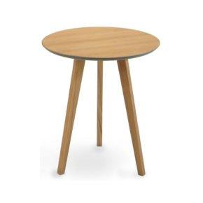 """Beistelltisch """"Atlantic"""" von Fischer Möbel, Gestell Aluminium Teakholz, Tischplatte fm-laminat spezial mit Teak"""