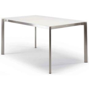"""Gartentisch """"Swing"""" von Fischer Möbel mit eingerückter Zarge"""