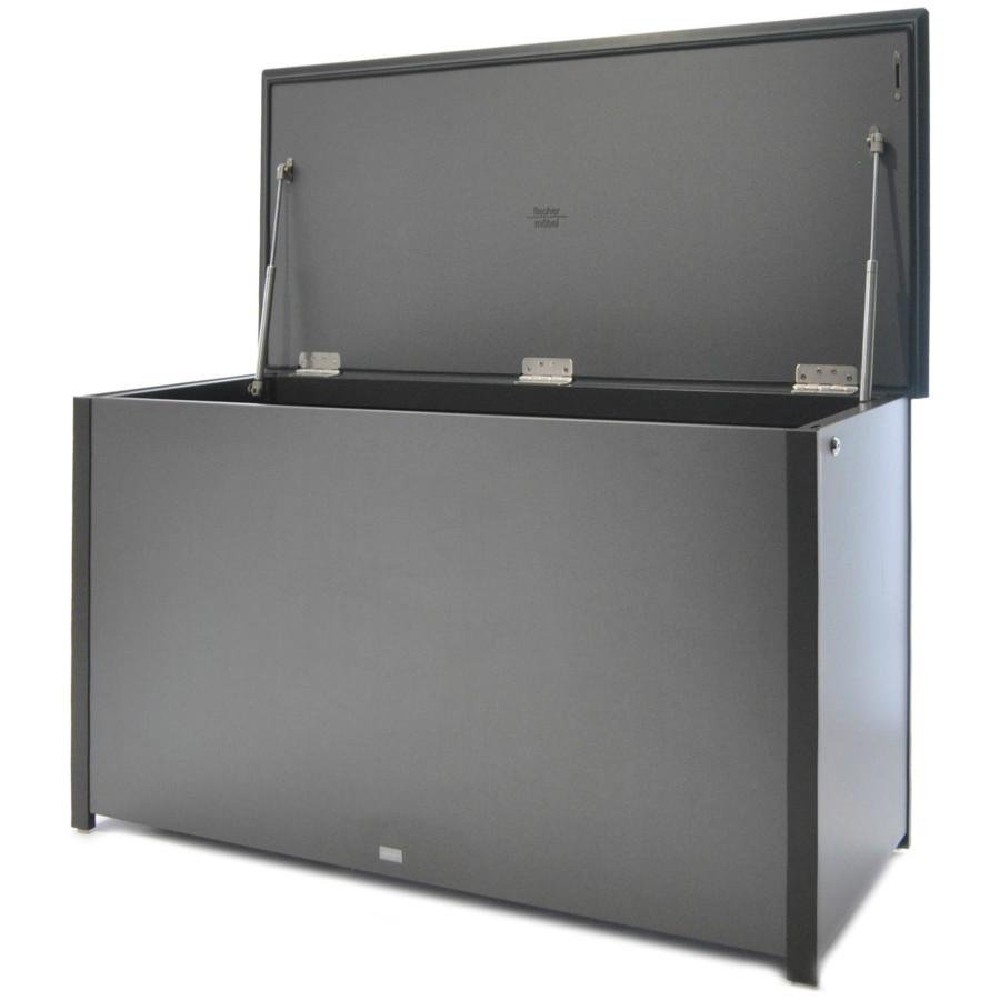 fischer m bel kissentruhe aluminium fm laminat spezial. Black Bedroom Furniture Sets. Home Design Ideas