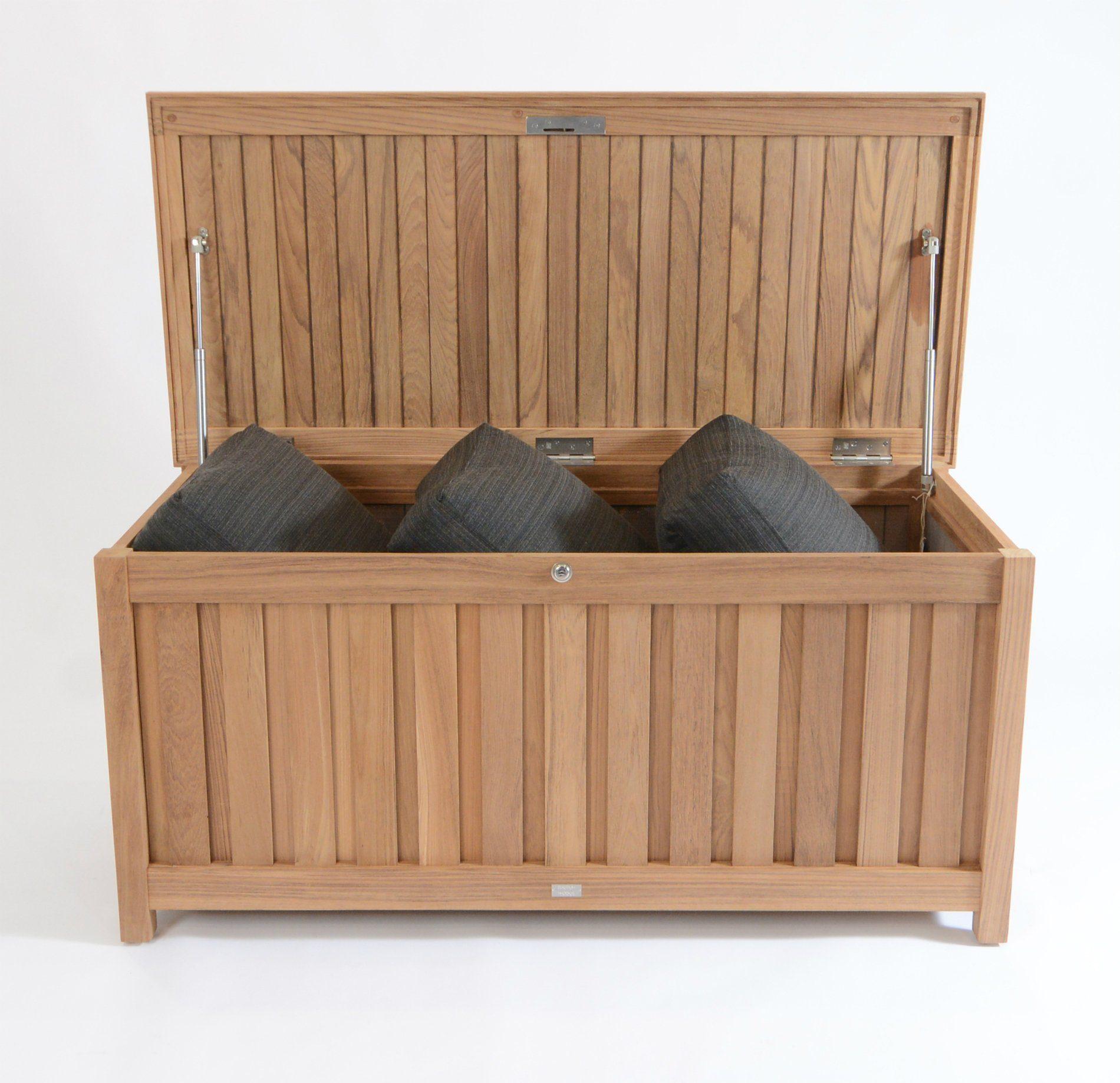 fischer m bel kissentruhe teakholz. Black Bedroom Furniture Sets. Home Design Ideas