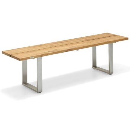 """Niehoff """"Nemo"""" Gartenbank, Gestell Edelstahl, Sitzfläche Teakholz geölt, 160 cm"""