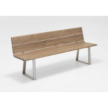 """Niehoff Gartenbank """"Nova"""", Teakholz recycelt, 160 cm"""