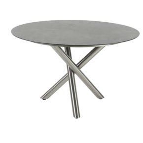 """Gartentisch """"San Marino"""" rund mit HPL Tischplatte von Diamond Garden"""