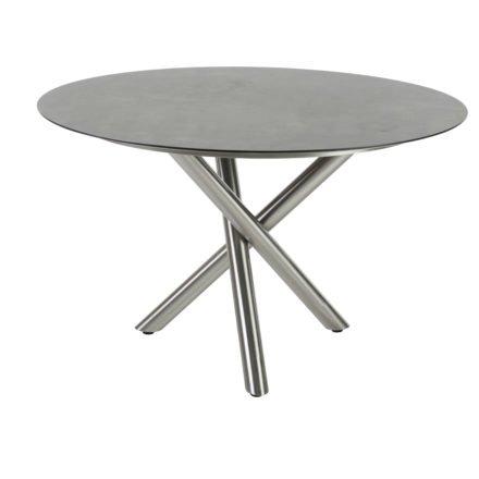 """Diamond Garden Gartentisch """"San Marino"""" rund, Gestell Edelstahl, Tischplatte HPL"""