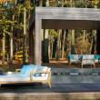 Loungeserie Zenhit von Royal Botania, Teakholz, Polsterfarbe Frost Linen