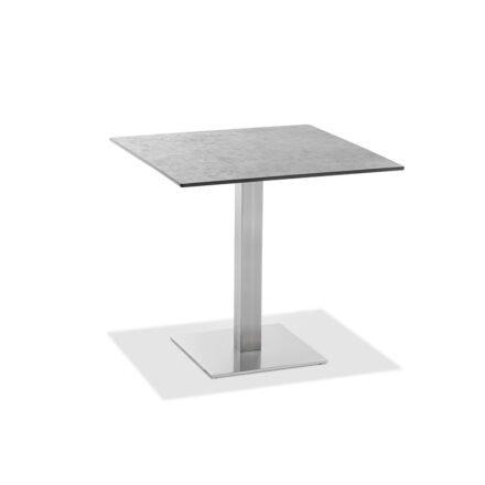 "Niehoff Tisch ""Bistro"", Gestell Edelstahl, Tischplatte HPL Zement-Design, eckig, 68 cm"