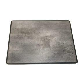 """SonnenPartner Tischplatte """"Lagos"""", Sevelit beton-dunkel, 70x70 cm"""
