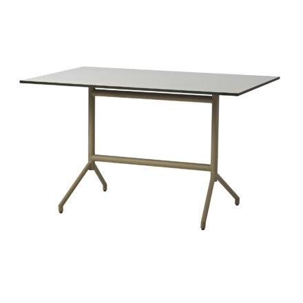 "Cane-line ""Avenue"" Gartentisch, Gestell Aluminium taupe, Tischplatte HPL grau"