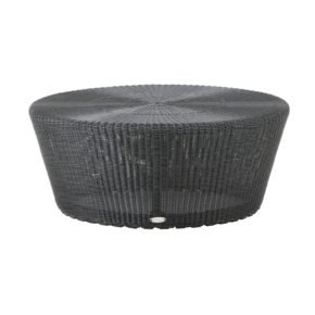 "Loungehocker ""Kingston"", Polyrattan graphit, von Cane-line"
