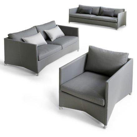 "Loungeserie ""Diamond"", Textilgewebe grau, von Cane-line"