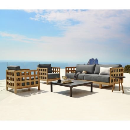 """Cane-line Lounge-Set mit Loungesessel """"Square"""", Loungesofa """"Square"""" und Tisch """"Penthouse"""""""