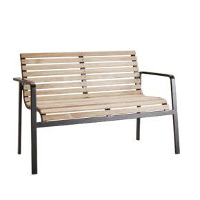 """Gartenbank """"Parc"""" von Cane-line, Gestell Aluminium, Sitz- und Rückenfläche aus Teakholz"""
